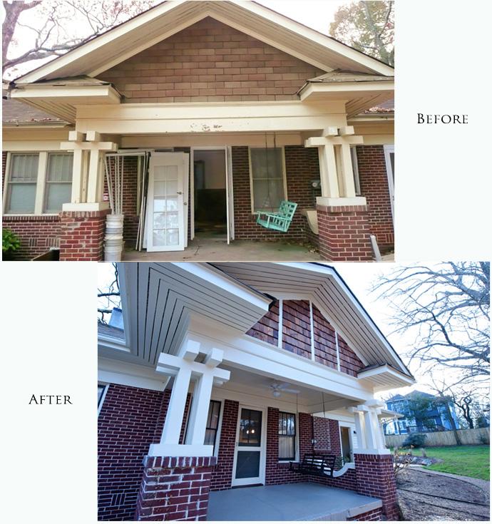 Atlanta Bungalow Renovation: Heirloom Design Build Decks And Porches